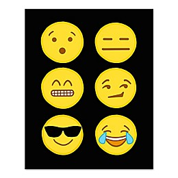 Assorted Emoji Collection Canvas Wall Art