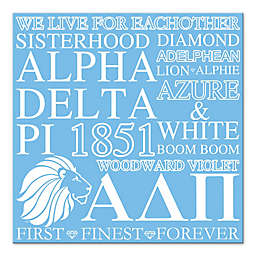 Alpha Delta Pi 16-Inch Square Canvas Wall Art