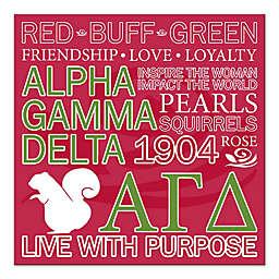 Alpha Gamma Delta Canvas Wall Art