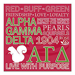 Alpha Gamma Delta Canvas Wall Art