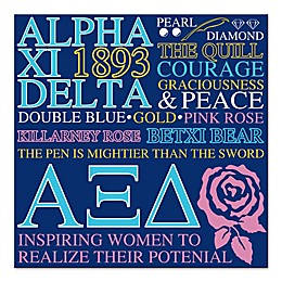Apha Xi Delta 16-Inch Square Canvas Wall Art