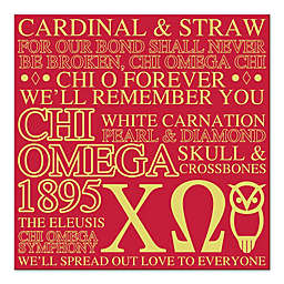 Chi Omega Canvas Wall Art
