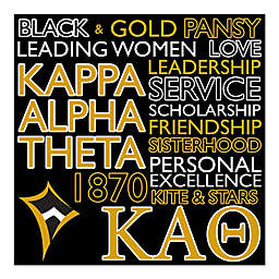 Kappa Alpha Theta Canvas Wall Art