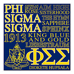 Phi Sigma Sigma Canvas Wall Art