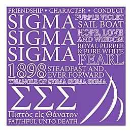 Sigma Sigma Sigma Canvas Wall Art
