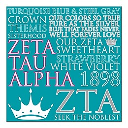 Zeta Tau Alpha Canvas Wall Art