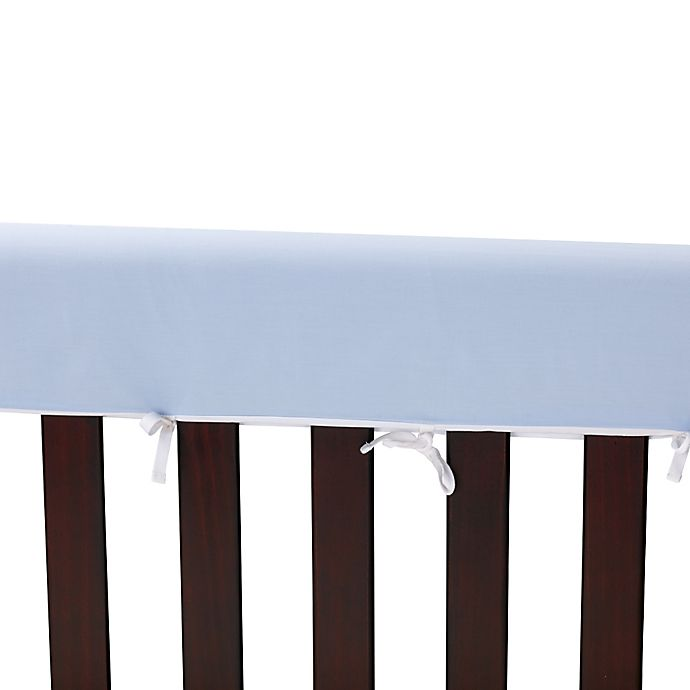 Alternate image 1 for Go Mama Go Designs® 52-Inch x 12-Inch Cotton Couture Teething Guards in Blue/White