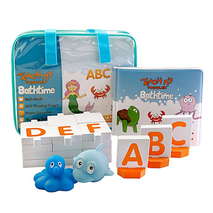 Alternate image 1 for Teach My Toddler Bathtime ABCs Learning Set