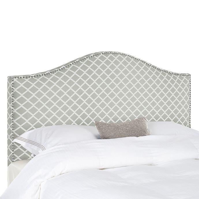 Alternate image 1 for Safavieh Connie Diagonal Plaid King Headboard in Grey/White