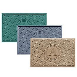 Weather Guard™ Argyle 23-Inch x 35-Inch Monogram Door Mat