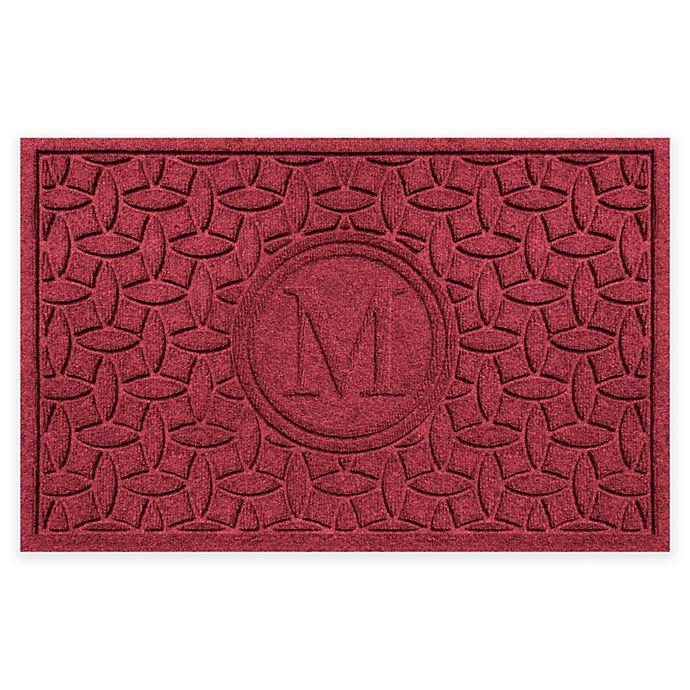 Alternate image 1 for Weather Guard™ Ellipse Door Mat in Red/Black