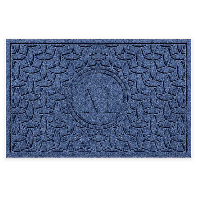 Alternate image 1 for Weather Guard™ Ellipse Door Mat in Navy