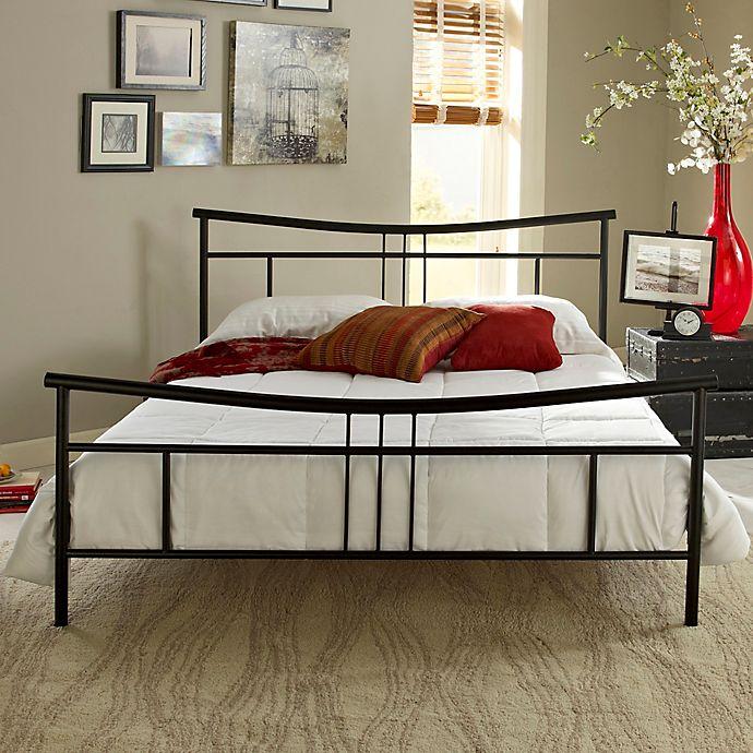 E Rest Deanna Metal Platform Bed In, Iron Platform Bed Queen