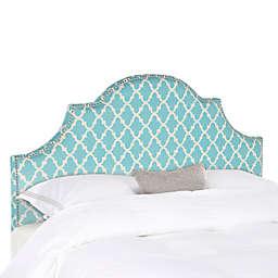 Safavieh Hallmar Arched Queen Headboard in Blue/White