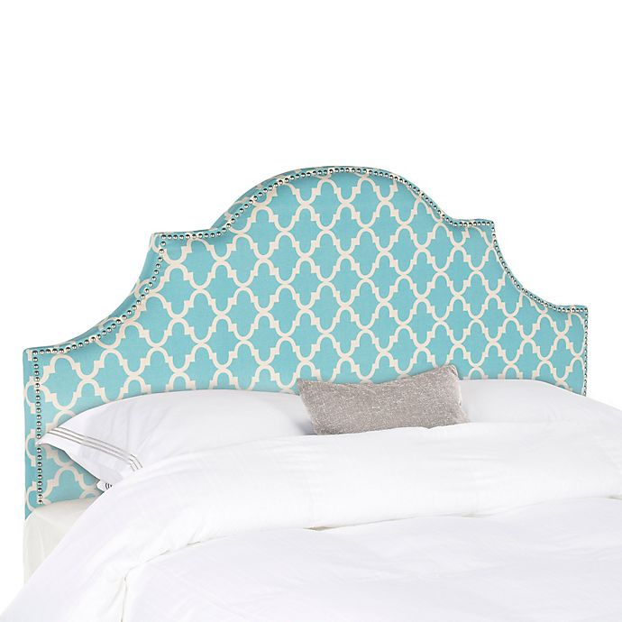 Alternate image 1 for Safavieh Hallmar Arched King Headboard in Blue/White