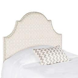 Safavieh Hallmar Twin Arched Headboard in Silver/Cream