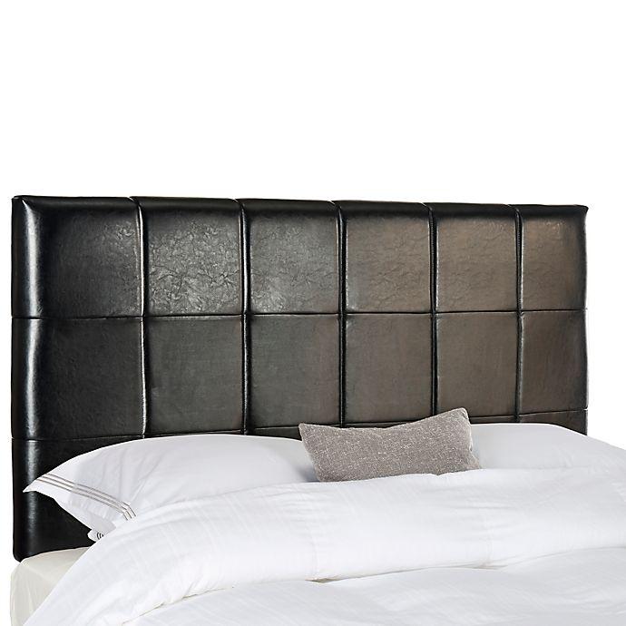 Alternate image 1 for Safavieh Quincy Leather King Headboard in Black