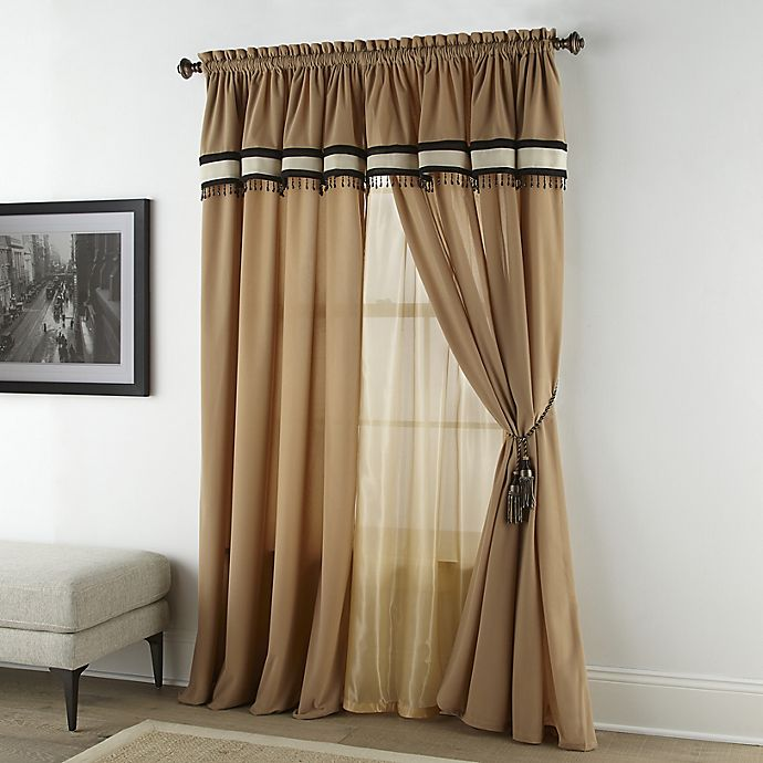 Alternate image 1 for Nanshing Gloria 4-Pack 84-Inch Window Curtain Panels in Beige