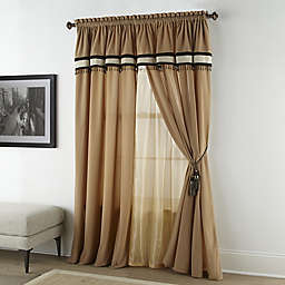 Nanshing Gloria 4-Pack 84-Inch Window Curtain Panels in Beige