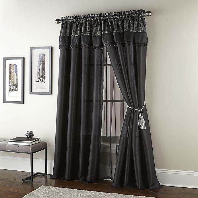 Alternate image 1 for Nanshing Kathy 2-Pack 84-Inch Window Curtain Panels in Black