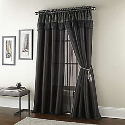 Nanshing Kathy 2-Pack 84-Inch Window Curtain Panels in Black
