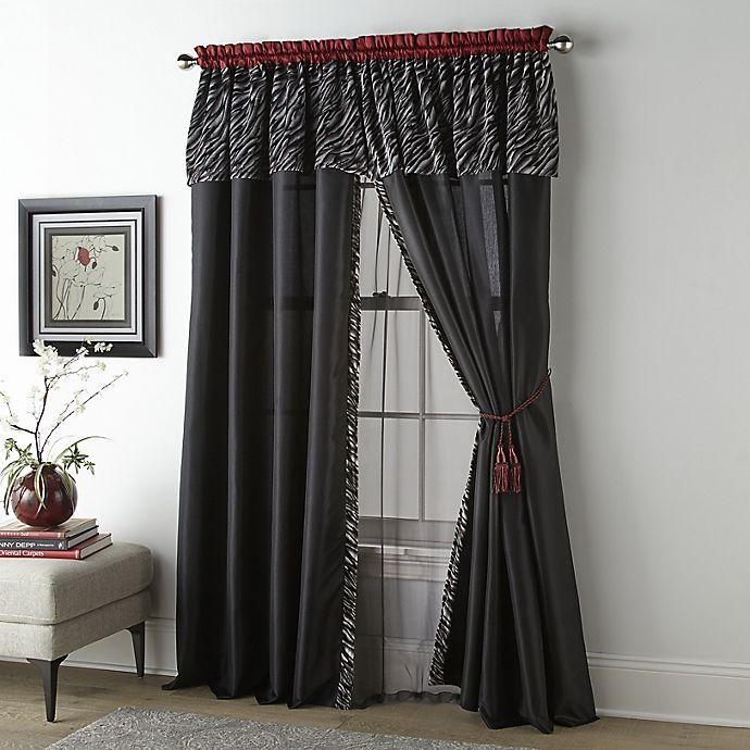 Alternate image 1 for Nanshing Corinne 2-Pack 84-Inch Rod Pocket Window Curtain Panels in Black