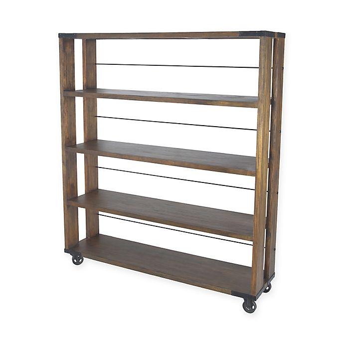 Alternate image 1 for Sterling Industries Penn Mobile Shelving Unit Bookcase