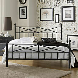 E-Rest Kayla Metal Platform Bed in Black
