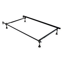 MetalCrest Classic Twin/Full Bed Frame with Glides in Black