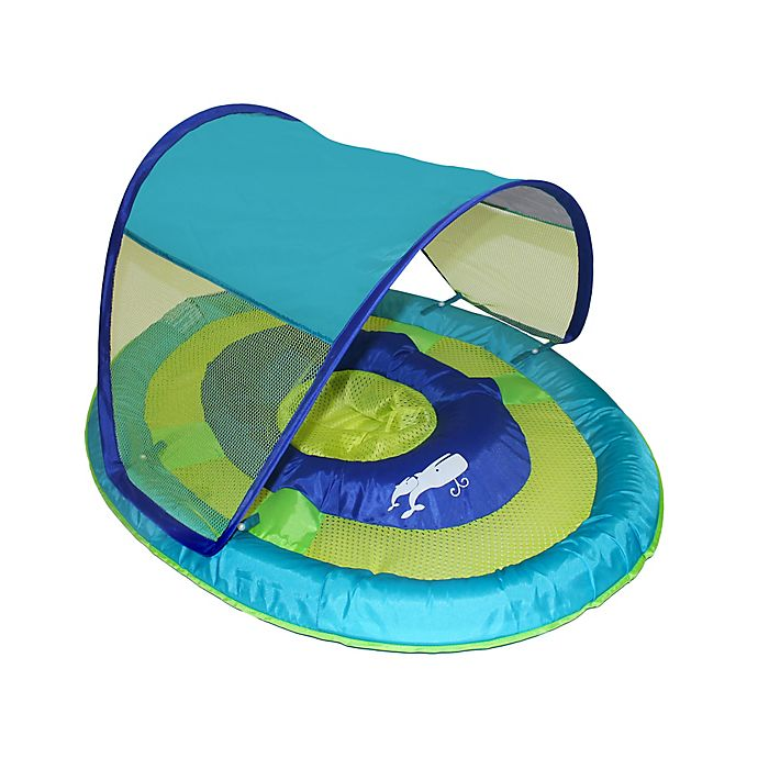 Alternate image 1 for SwimWays Sun Shade Spring Float in Whale