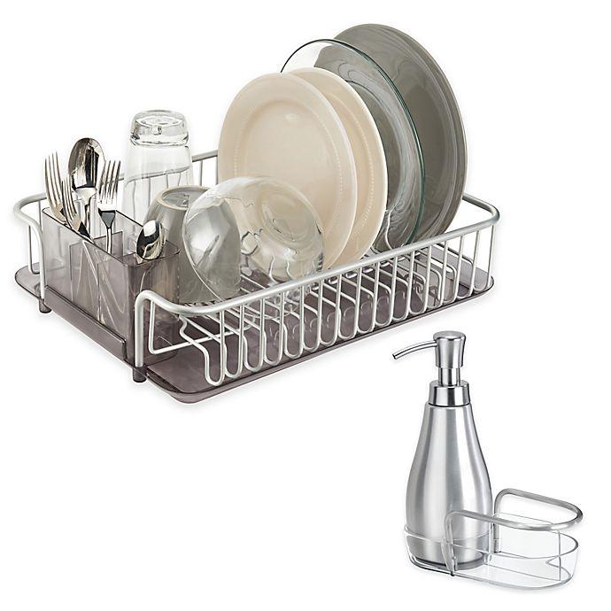 Idesign 174 Metro Aluminum Dish Rack And Soap Dispenser Bed