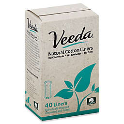 Veeda® 40-Count Natural Cotton Panty Liners
