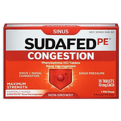Sudafed PE® 18-Count Maximum Strength Congestion Tablets
