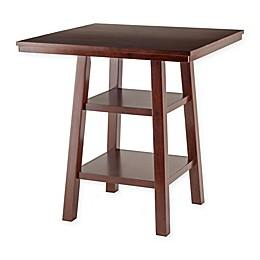 The Winsome Trading Orlando 2-Shelf High Pub Table in Walnut