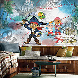 Captain Jake & the Never Land Pirates XL Chair Rail Prepasted 10.5-Foot x 6-Foot Mural