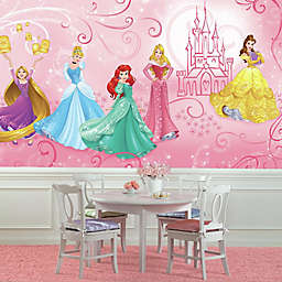 Disney Princess Enchanted XL Chair Rail Prepasted 10.5-Foot x 6-Foot Mural