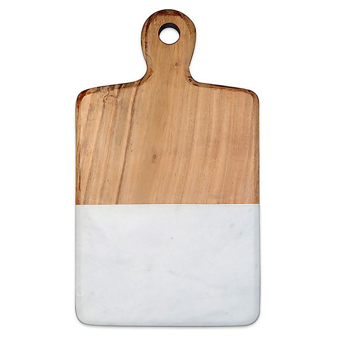 Alternate image 1 for Artisanal Kitchen Supply® 13-Inch Acacia and Marble Cheese Board