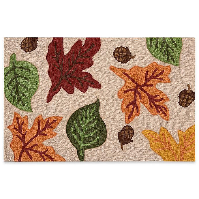 Nourison Fall Leaf Hook 20-Inch X 30-Inch Kitchen Rug In