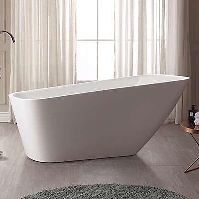 Avanity Rain ABT1529-GL 66.7-Inch x 28-Inch Acrylic Bath Tub in White