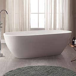Avanity Flux VBT1510-MT 68.5-Inch x 32-Inch Acrylic VersaStone Freestanding Bath Tub in White