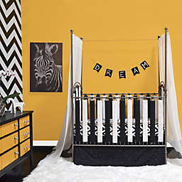 Go Mama Go Designs® Cotton Couture Slat Covers and Teething Guards in Black/White