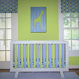 Go Mama Go Designs® Cotton Couture Slat Covers and Teething Guards in Lime/Periwinkle