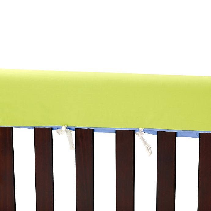 Alternate image 1 for Go Mama Go Designs® 52-Inch x 12-Inch Cotton Couture Teething Guards in Lime/Periwinkle