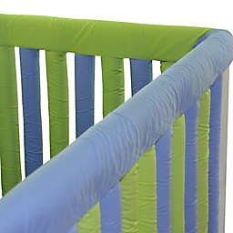 Go Mama Go 52-Inch x 6-Inch Cotton Couture Teething Guards in Lime/Periwinkle