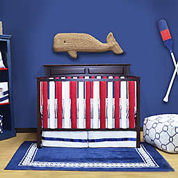 Go Mama Go Designs® Cotton Couture Slat Covers and Teething Guards in Navy/Red/White