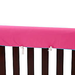 Go Mama Go  52-Inch x 12-Inch Cotton Couture Teething Guards in Pink/Turquoise