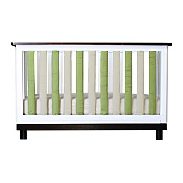Go Mama Go Designs® 2-Pack PURE SAFETY® Vertical Crib Liners in Sage/Khaki