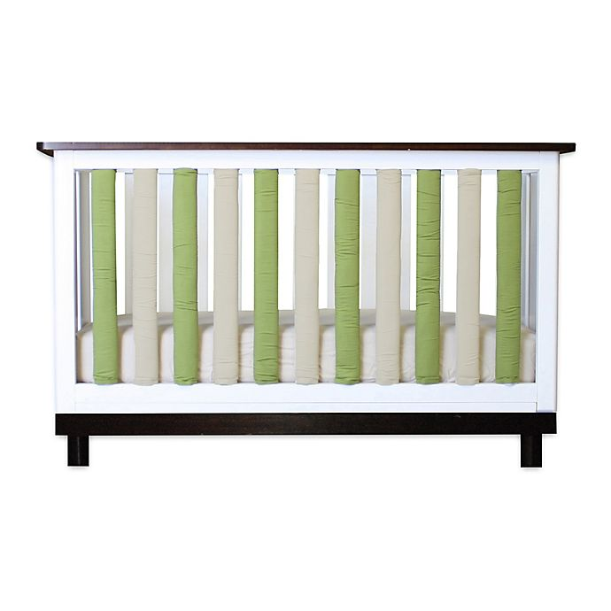 Alternate image 1 for Go Mama Go Designs® 2-Pack PURE SAFETY® Vertical Crib Liners in Sage/Khaki