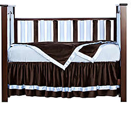 Go Mama Go® Designs Luxurious Crib Bedding Collection in Chocolate/Blue