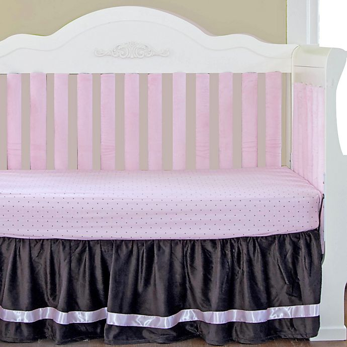 Alternate image 1 for Go Mama Go® Designs Crib Bedding Collection in Chocolate/Pink